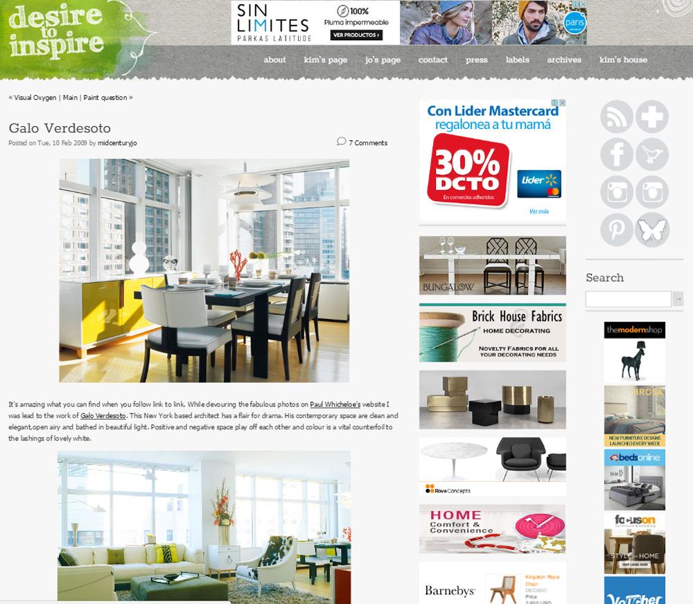 Desire to Inspire Website Printscreen
